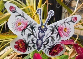 Butterflies - Peonies