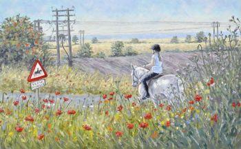 Original Oil Painting - Horse Rider