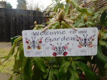 Garden Sign - Butterfly Flowers