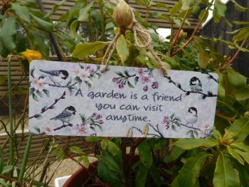 Garden Sign - Coal Tits