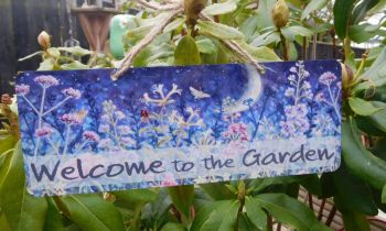 Metal Door / Garden Sign - Midnight Garden