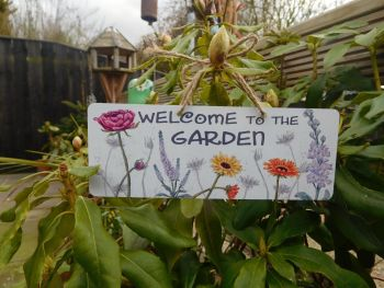 Garden Sign - Gerbera Daisy mix