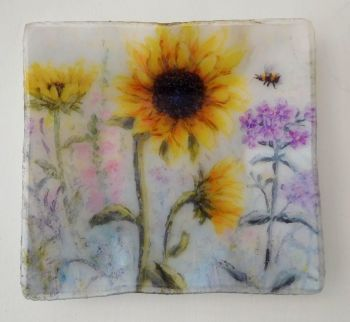 Tray/Dish - Sunflowers