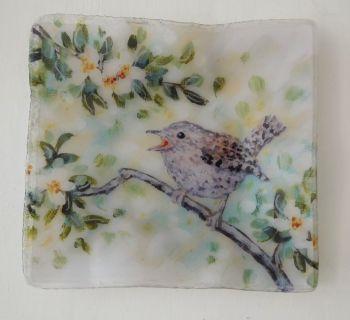 Tray/Dish - Wren & White Blossom