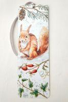 Bookmark - Red Squirrel, Winter