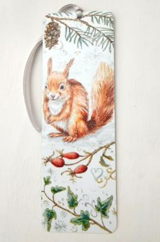 Bookmark - Red Squirrel, Winter