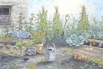 Original Paintings - Vegetable Patch