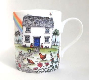 Mugs & Coasters-Rainbow Cottage