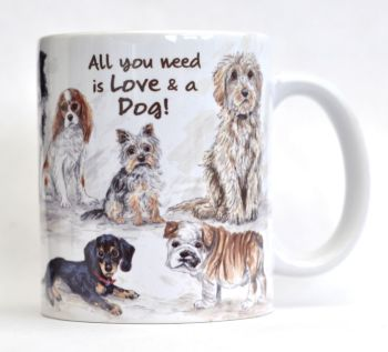 Mug or Coaster- Doggy Mixture