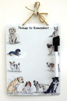 Dry-Wipe Board - Doggy Mixture