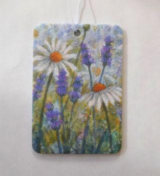 Car Air Freshener -  Lavender & Daisy