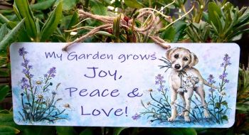 Garden Sign - Daisy Dog