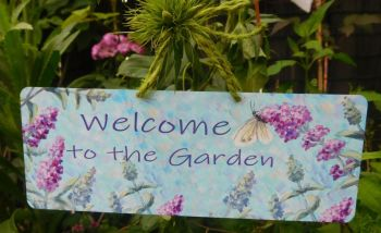 Metal Door / Garden Sign - Buddleia