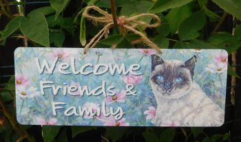 Garden Sign - Cosmos Cat
