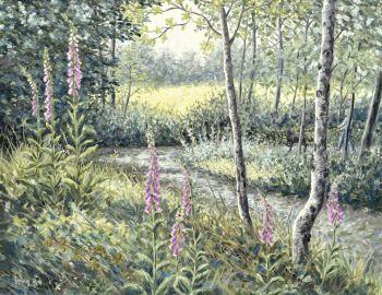 Original Paintings - Foxglove Wood