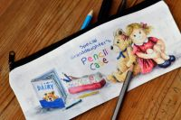 Pencil Case or Tidy Pot - Ted & Girl