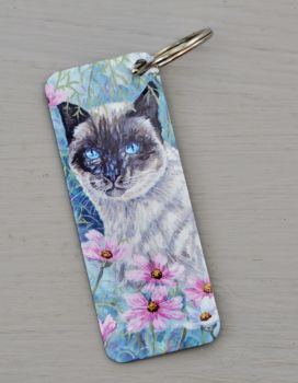 Bookmark & Keyrings - Cosmos Cat