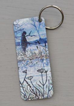 Bookmark or Keyring - Fisherman