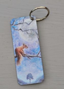 Bookmark or Keyring - Moon Squirrel