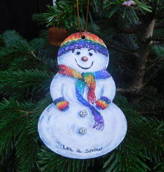 Snowman - Rainbow
