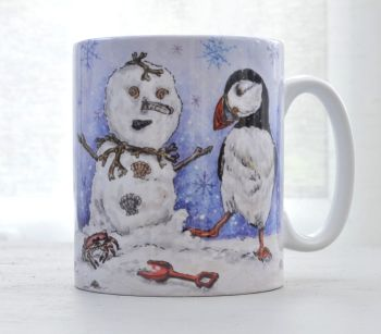 Mugs & Coasters- Shell Snowman