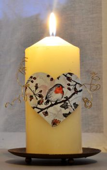 Heart Candle Wrap - Robin & Hawthorn