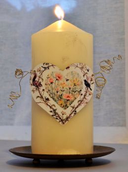 Heart Candle Wrap - Country Heart