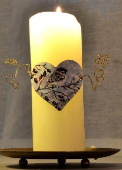 Heart Candle Wrap - Sparrow & Hawthorn