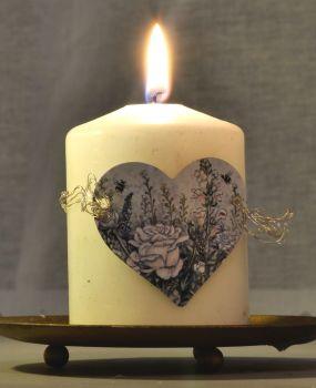 Heart Candle Wrap - Heartbreak Flowers
