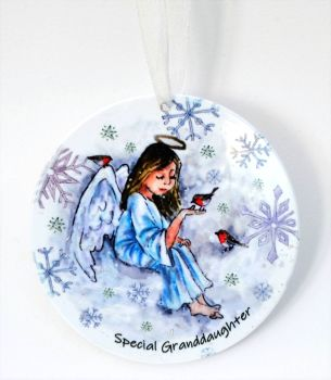 Bauble  - Angel  & Robins
