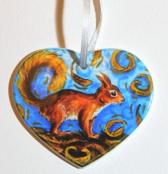 Heart Candle Wrap or Hanging Decoration - Five Gold Rings