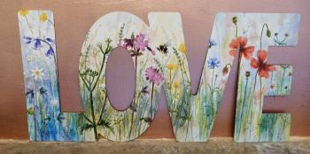 Word Art - Love - Wild Flowers