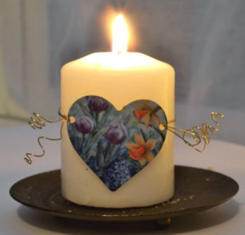 Heart Candle Wrap - Spring Heart