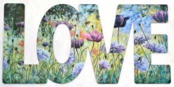 Word Art - Love - Purple Haze