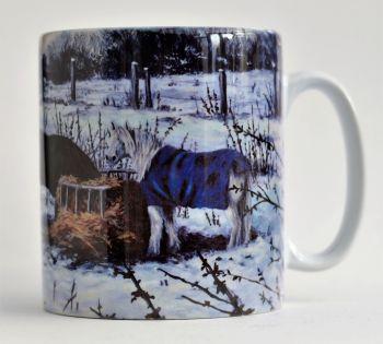 Mug or Coaster- Snow Ponies