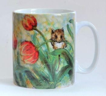 Mug or Coaster- Mice & Tulips