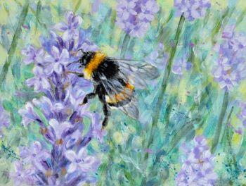 Orginal Small Canvas - Lavender & Bee 2