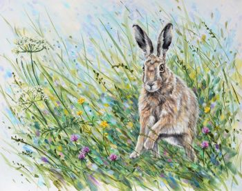 Original Paintings - Leaping Hare