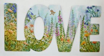 Word Art - Love - Summer Bird Garden