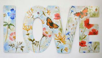 Word Art - Love - Butterfly Summer Mix