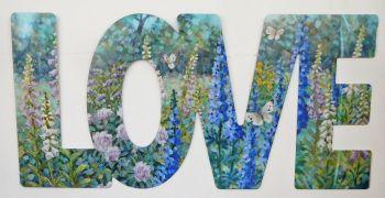 Word Art - Love - Butterfly Garden