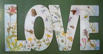Word Art - Love - Northern Hills Wildflowers