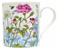 Mugs & Coasters-Roses are Pink, Delphiniums are Blue