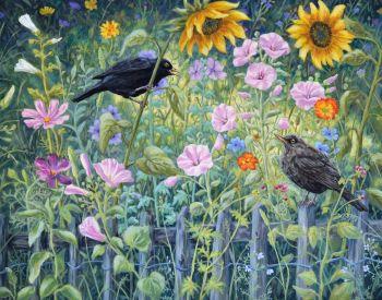 Original Paintings - Tapestry Garden
