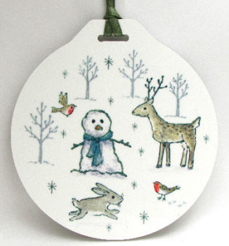 Bauble - Woodland Snowman