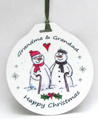 Bauble - Grandma & Grandad