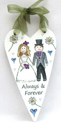 Heart- Wedding Couple - Daisies