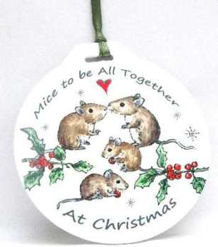 Bauble - Mice Family