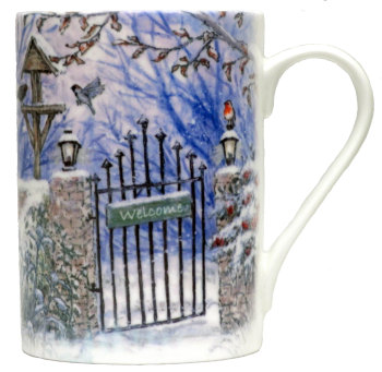 Mugs & Coasters-Winter Bird Garden