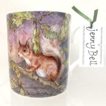 Mug or Coaster-Dark skies - Red Squirrel